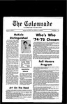 Colonnade November 1, 1974 by Colonnade